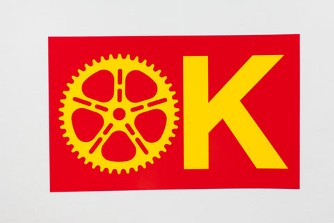 OK COG Wheel Sticker