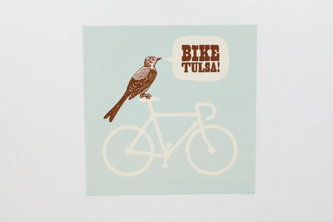 Bike Tulsa! Sticker