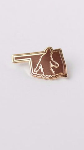 Bigfoot Oklahoma Lapel Pin