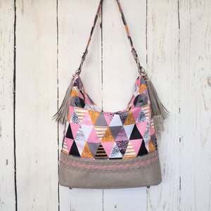 Pink Triangles Hobo Bag