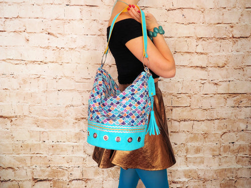 Mermaid Hobo Bucket bag - Tocha Studio