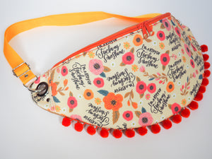 'I am ray of fucking sunshine' crossbody bag