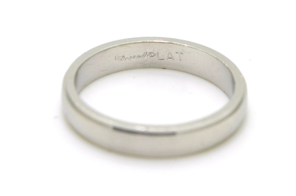 Novell Platinum Satin & Polished Finish 4 mm Wedding Band Ring - Size 9.25