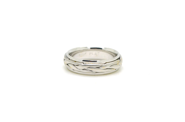Novell Platinum Polished Satin 6.5 mm Comfort Wedding Band Ring - Size 9.75