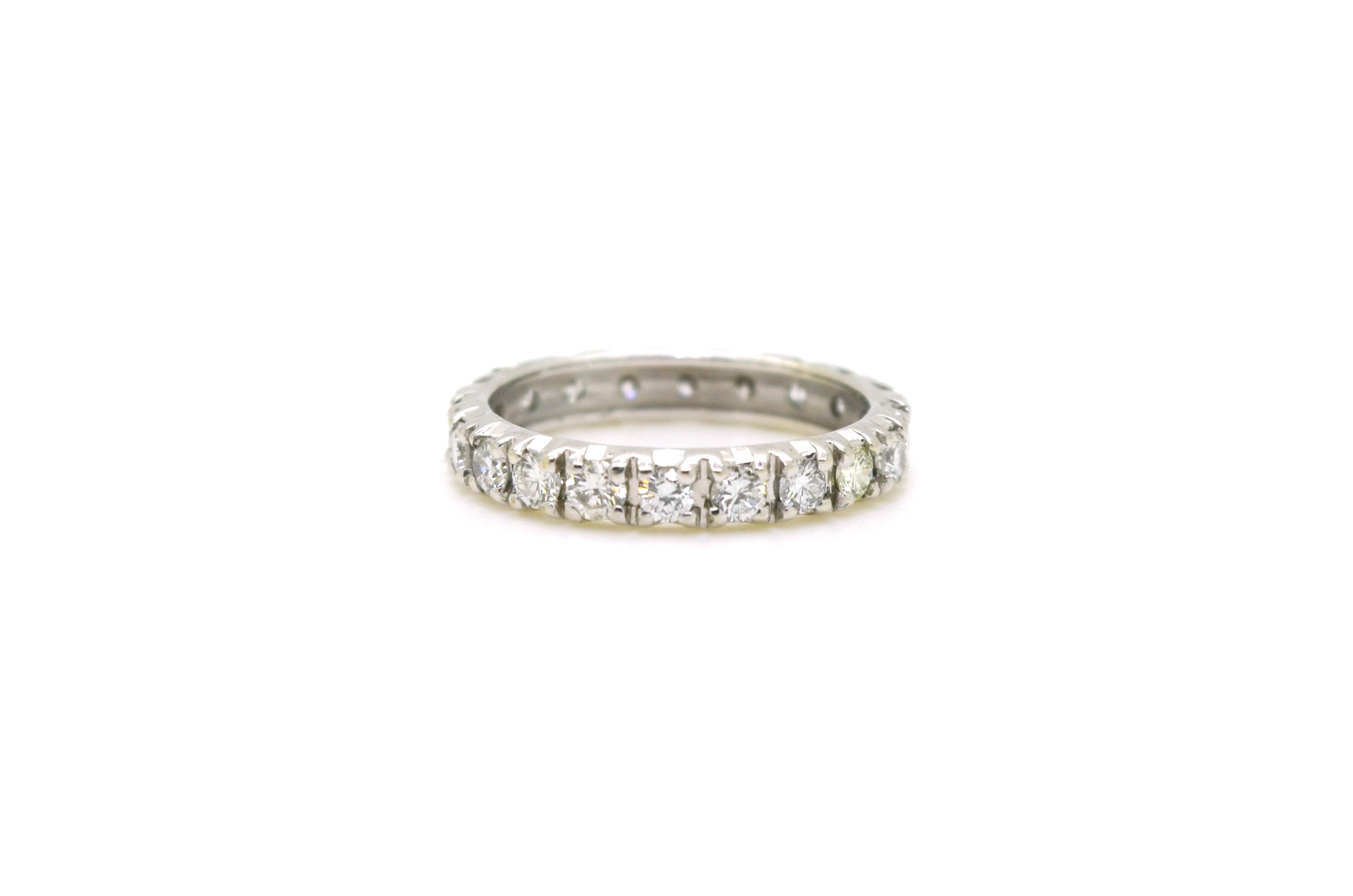 white prong eternity shared bands gold diamond products band