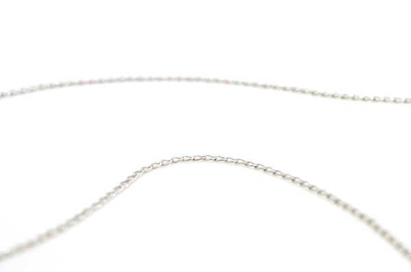 14k White Gold Bezel Three Diamond Drop Pendant Necklace - .70 ct total - 15 in.