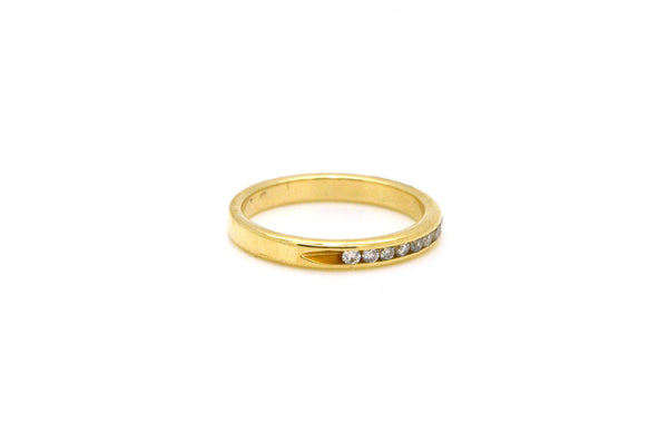 14k Yellow Gold Channel-Set Diamond Wedding Band Ring - .33 ct. total - Size 6