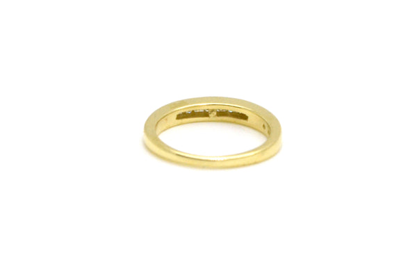 14k Yellow Gold Diamond Channel-Set Wedding Band Ring - .33 ct total - Size 5.25