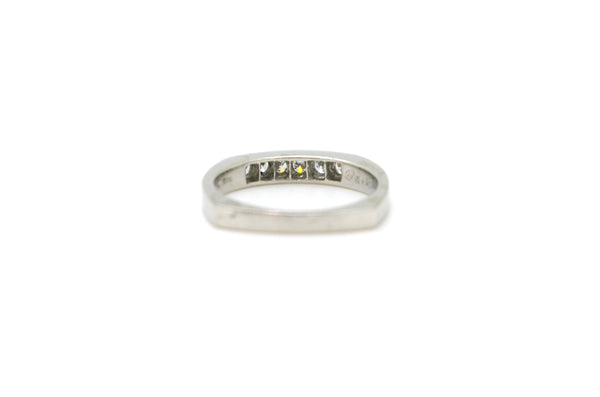 Platinum Pave-Set Diamond 6-Stone Band Ring - .33 ct. total - Size 5.5