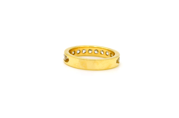 14k Yellow Gold Channel-Set Diamond Half-Eternity Ring - 1.00 ct. total - Size 6