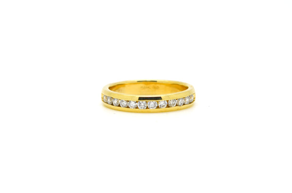 Vintage 14k Yellow Gold Diamond 12-Stone Band Ring - .50 ct. total - Size 7.25
