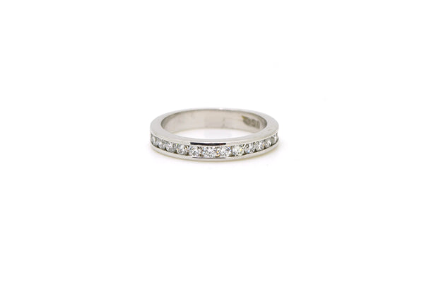 14k White Gold Channel Round Diamond Band Ring - .45 ct. total - Size 4.75