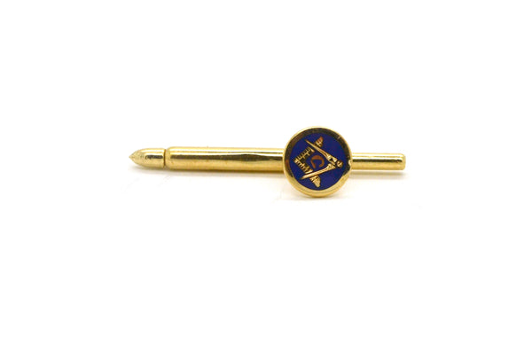 Vintage Set of Three 14k Yellow Gold Masonic Pins with Blue Enamel - 2.2 dwt