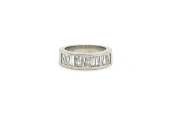 Platinum Channel-set Baguette Diamond Band Ring - 1.25 ct. total - Size 5.5