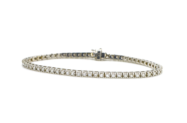 14k White Gold Round Diamond Traditional Tennis Bracelet - 2.00 ct. tw - 7 in.
