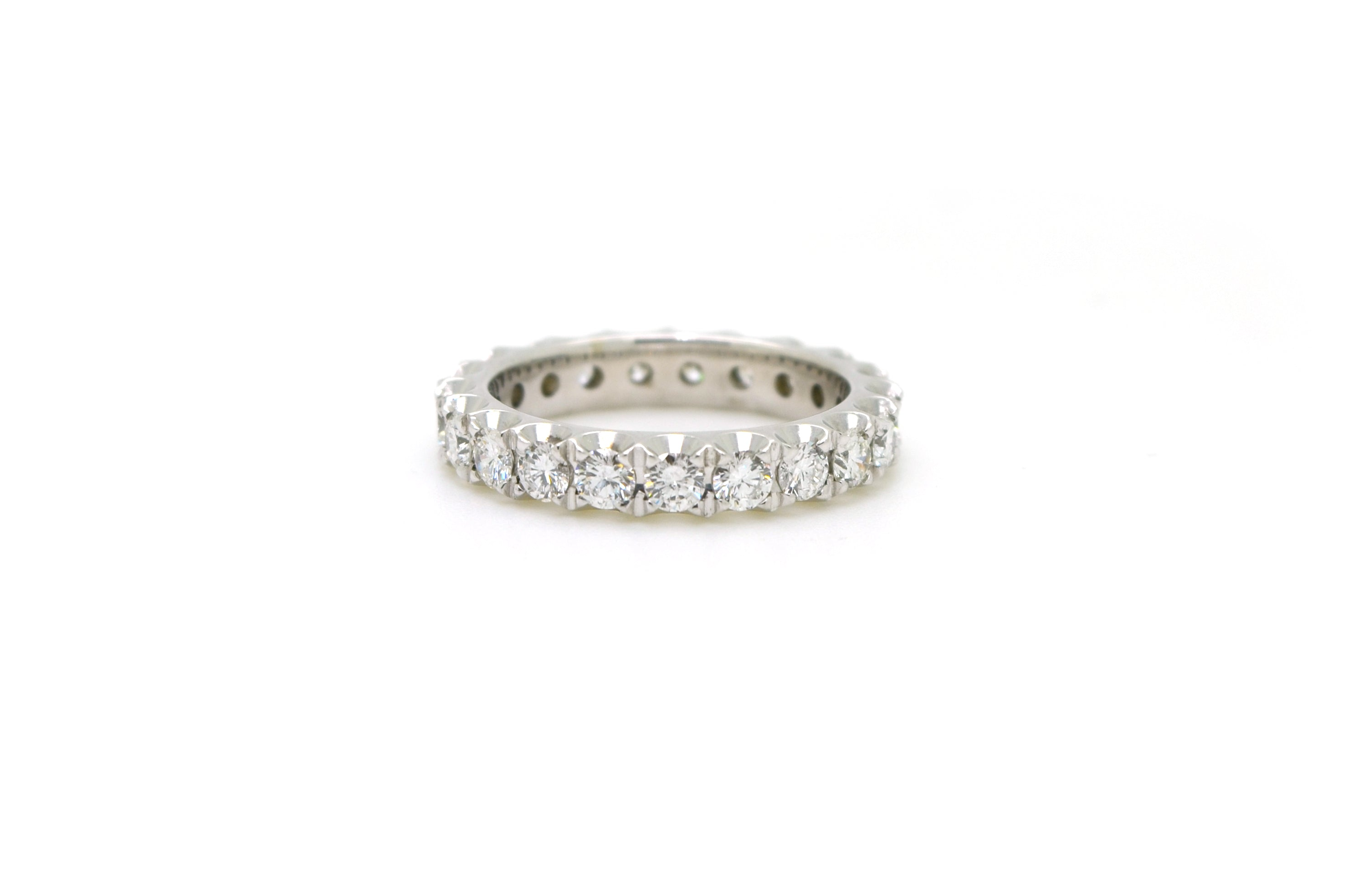 diamonds bands baguette gold eternity with diamond ring white ladies half band round product zoio and