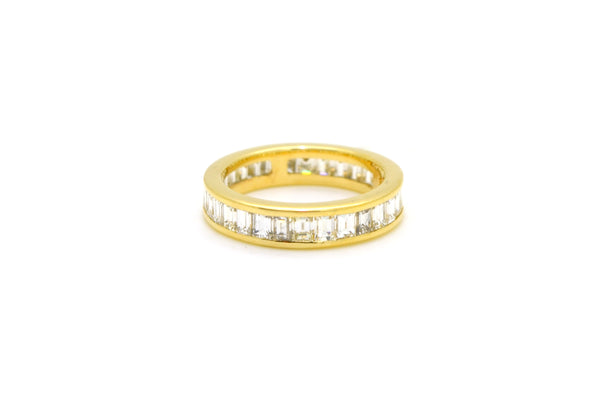 14k Yellow Gold Emerald Cut Diamond Eternity Band Ring - 2.00 ct. tw - Size 5.75