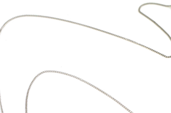 "14k White Gold ""O"" Shaped Diamond Pendant Necklace - .75 ct. total - 17.5 in."