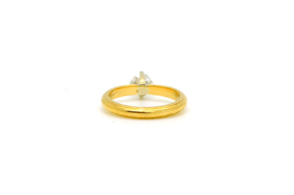 18k Yellow Gold Round Diamond Solitaire Engagement Ring - .35 ct. - Size 4.5