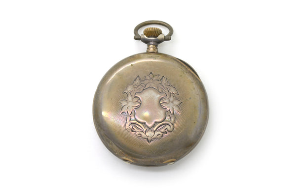 Vintage 800 Silver Carl Stahlberg Omega Grand Prix Pocket Watch - Paris c. 1900