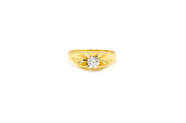 Vintage 14k Yellow Gold Diamond Solitaire Engagement Ring - .40 ct - Size 8.5