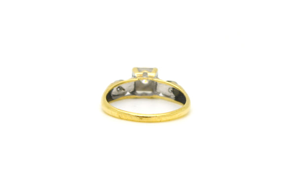 Vintage 14k Yellow & White Gold Diamond Promise Ring - .20 ct. total - Size 5.25