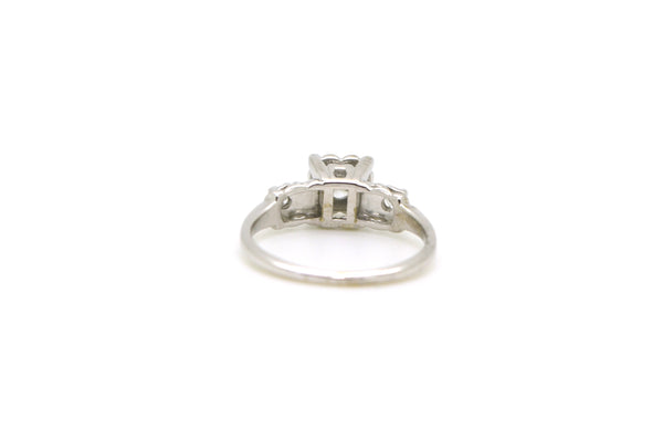 Vintage 14k White Gold Diamond 3-stone Engagement Ring - .25 ct. tw - Size 5.5