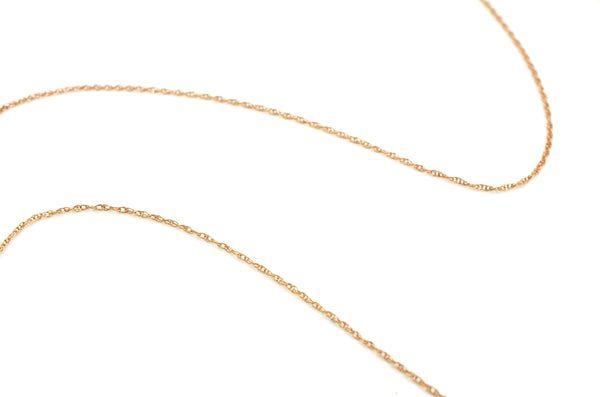 14k Rose Gold Diamond Fluted Pendant Rope Chain Necklace - .25 ct. total - 18 in.
