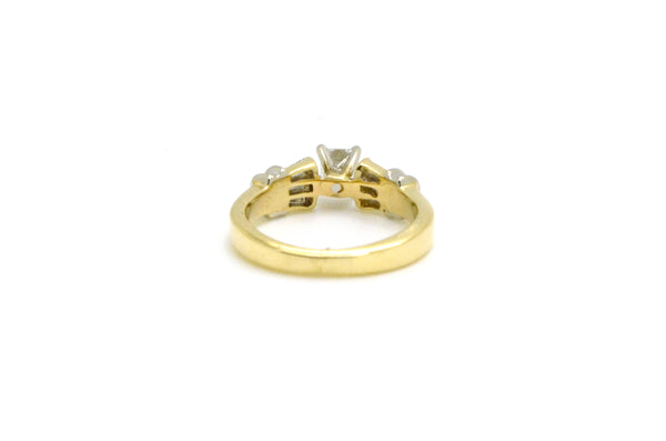 14k Yellow Gold Princess Diamond Engagement Ring - .50 ct. total - Size 5.25