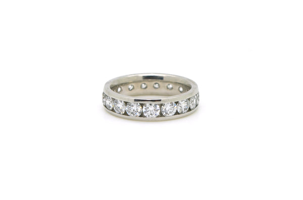 Platinum Channel-Set Round Diamond Eternity Band Ring - 2.75 ct. total - Size 6