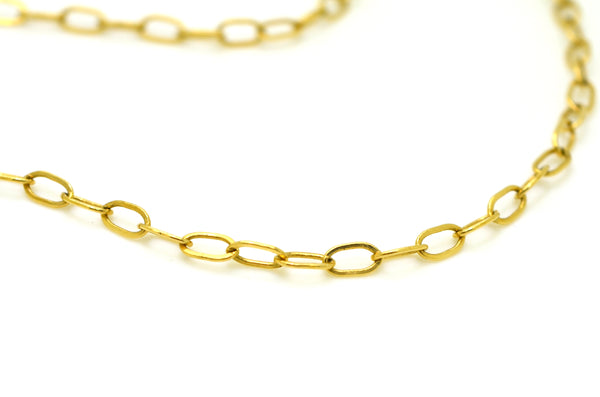 14k Yellow Gold Crescent Moon and Stars Larat Style Diamond Necklace - 17.5 in