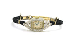Vintage Ladies 14k White Gold Elgin Watch with Diamonds - .50 ct. total