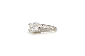 Vintage Platinum Diamond Solitaire Engagement Ring - 1.02 ct GIA G VVS2 - Size 5