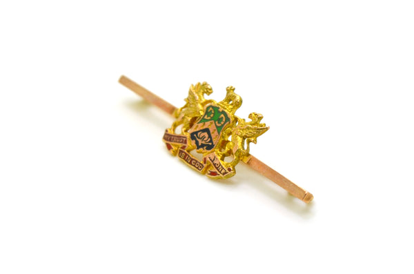 Vintage 10k Yellow Gold Pin Brooch with Clothworkers Company Coat of Arms Crest