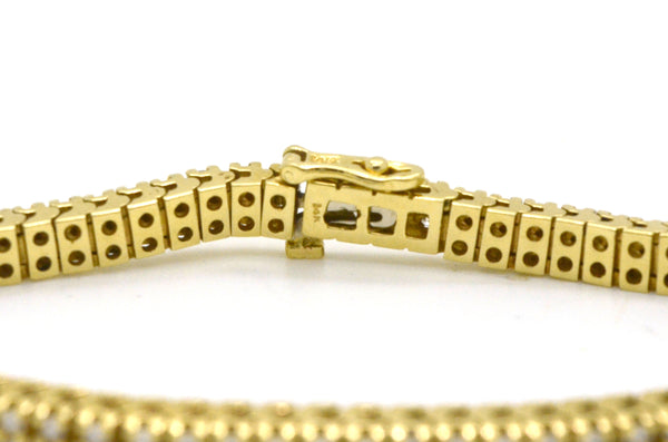 14k Yellow Gold Diamond Link Tennis Fine Bracelet - 1.50 ct. total - 7 in.