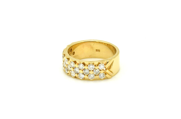 Vintage 14k Yellow Gold Diamond Pave-Set Band Ring - .75 ct. total - Size 5.25