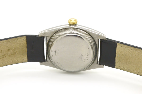Rolex Stainless Steel & Rose/Yellow Gold Oyster Bubble Watch - #2940 - c. 1938