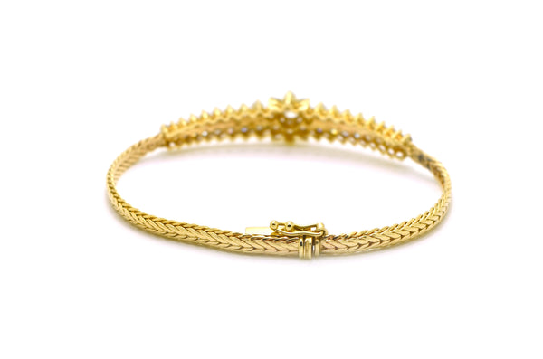 Vintage 14k Yellow Gold Round Diamond Bracelet - 2.00 ct. total - 6.25 in.