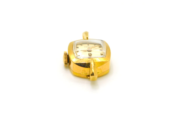 Vintage 18k Yellow Gold Omega Mechanical 17 Jewel Watch without Strap - Working