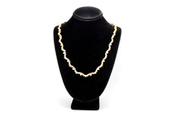 18k Yellow Gold Scalloped Diamond Riviera Necklace - 7.50 ct. total - 15.5 in.
