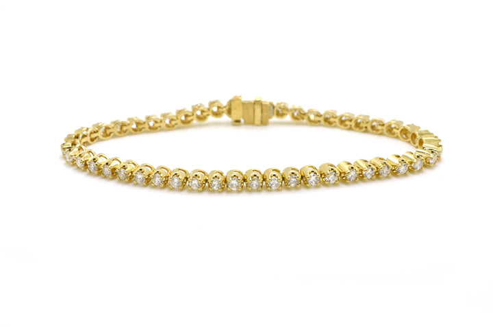 14k Yellow Gold Round Diamond Line Tennis Bracelet - 2.00 ct. total - 7 in.