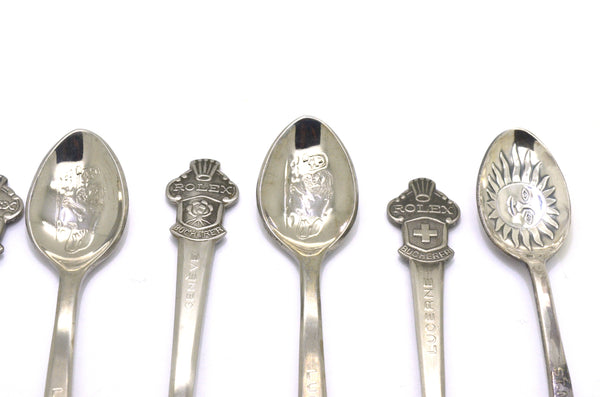 Collectable Genuine Rolex Stainless Steel Set of Six Decorative Small Spoons