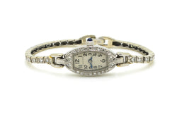 Vintage Ladies Platinum Hamilton Watch with Diamonds - 17 Jewels - .90 ct. total