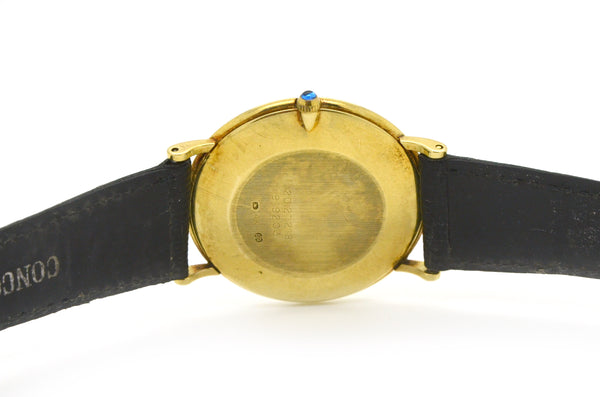Vintage 14k Yellow Gold Concord Tiffany & Co. Watch - 20.21.218 - Leather Strap