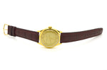 Vintage 14k Yellow Gold Vacheron & Constantin Auto Watch - Brown Leather Strap