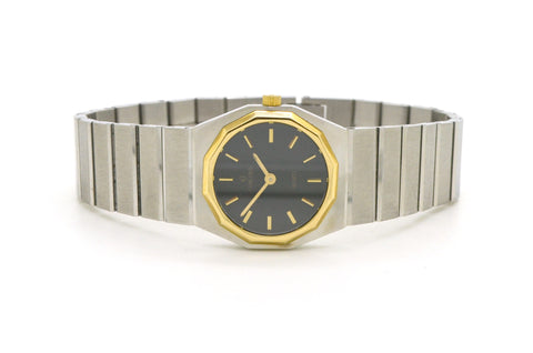 Concord Stainless Steel & 14k Gold Mariner S.G. Watch - Black Dial - 15-25-0148