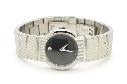 Movado Museum Stainless Steel Quartz 26 mm Watch with Black Dial - 84.G4.1842