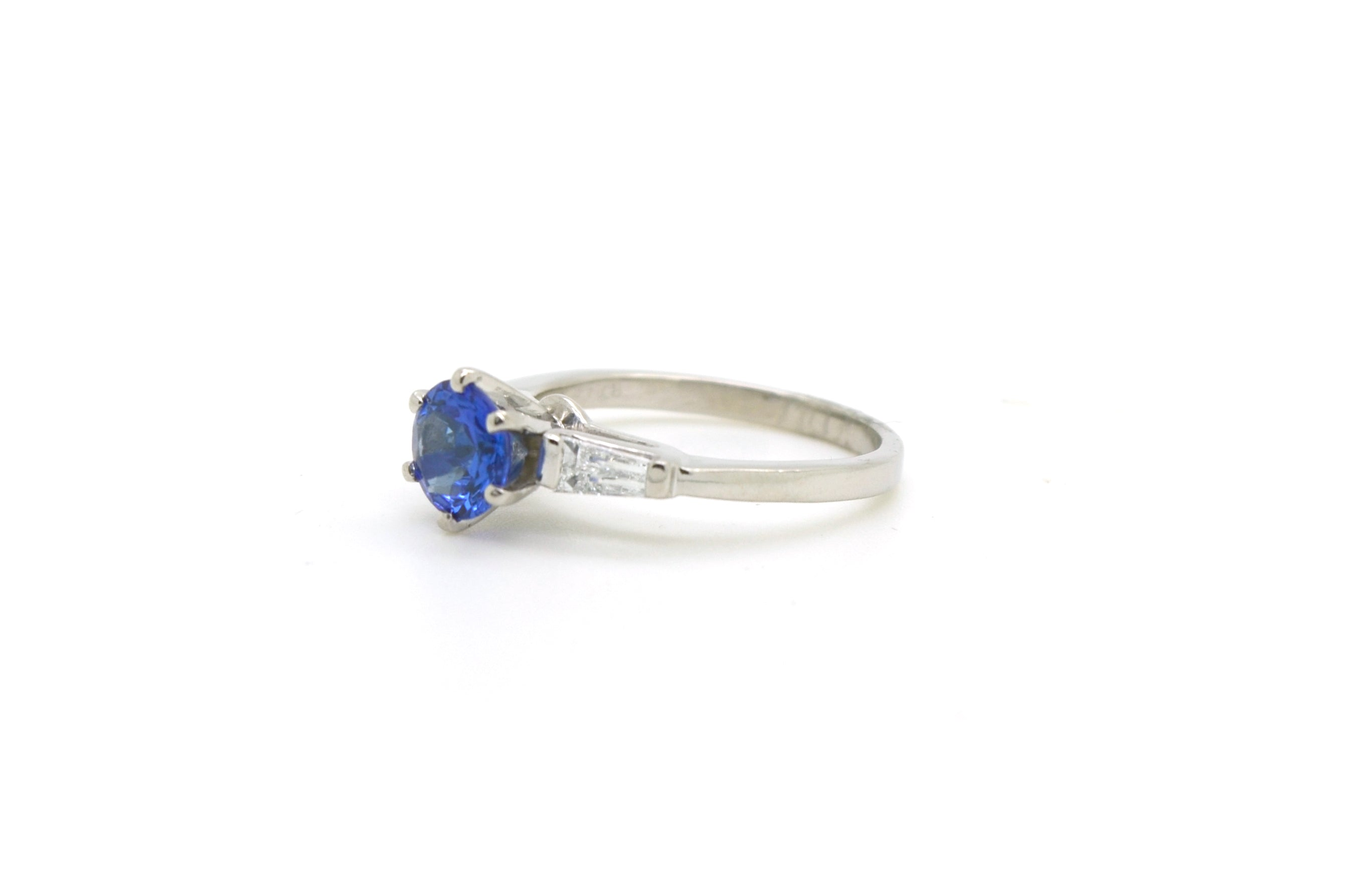 light pear ring engagement platinum sapphire to full blue click diamond expand item baguette