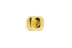 Vintage Tiffany & Co. 14k Yellow Gold Gaudet Patientia Duris Stamp Signet Ring
