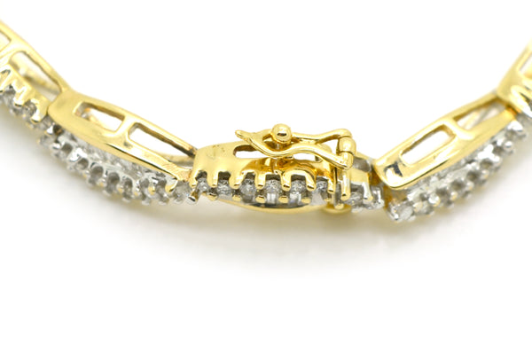 10k Yellow Gold Round & Baguette Diamond Tennis Bracelet - 2.50 ct. tw - 6.5 in.